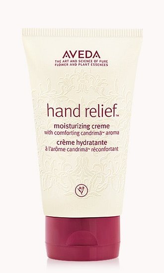"hand relief<span class=""trade"">™</span> moisturizing creme with comforting candrimā<span class=""trade"">™</span> aroma"